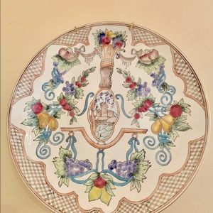 "10"" Decorative plate with plate holder for wall"